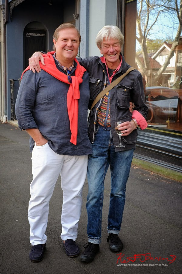 Tim Olsen and Brett Hilder, at Olsen Irwin Works on Paper Gallery, Queen Street Woollahra.