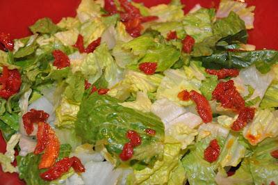 photo of romaine Salad with Lemon Parmesan Dressing Recipe.