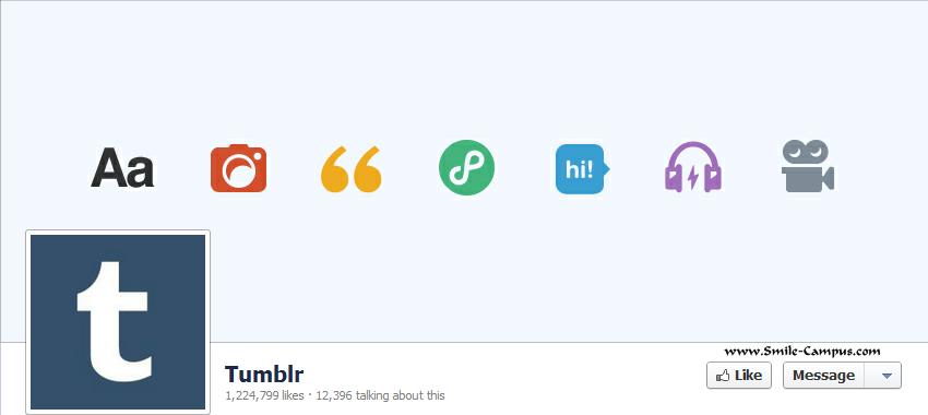 Tumblr.com Facebook Timeline Page