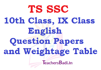 TS SSC,10th Class,IX Class,English Question Papers