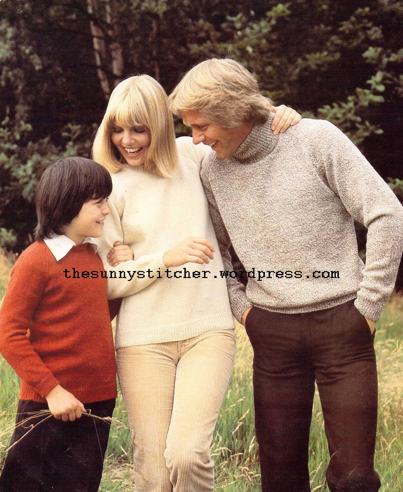 free 1970's Knitting - Round and Polo Necked Sweaters