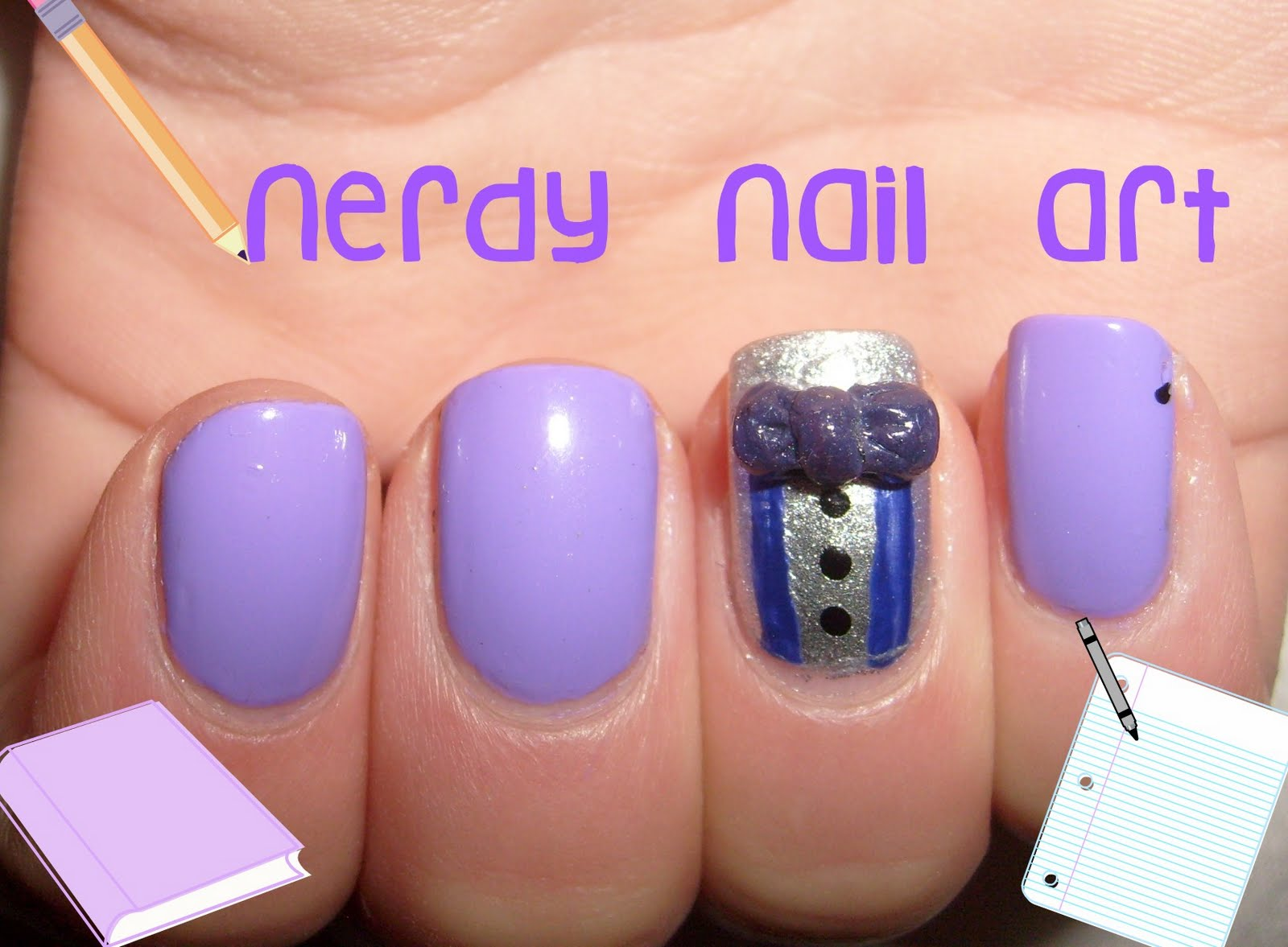 Aura Kasih Lawyers Nail Art Nerdy Nails With A Bow