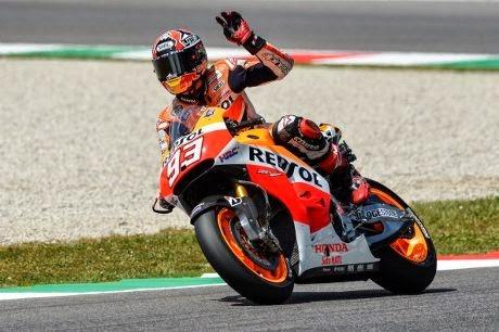 MotoGP Italia: Marquez Salip Lorenzo Di Lap Terakhir dan Juara !