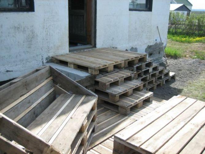 Hacer tarima con palets de madera - Construir con palets ...