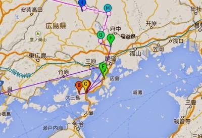 2014年4月・しまなみ海道散策マップ