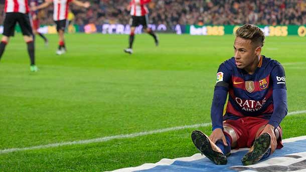 """Neymar se presentó ante el Athletic con un nuevo """"look"""""""