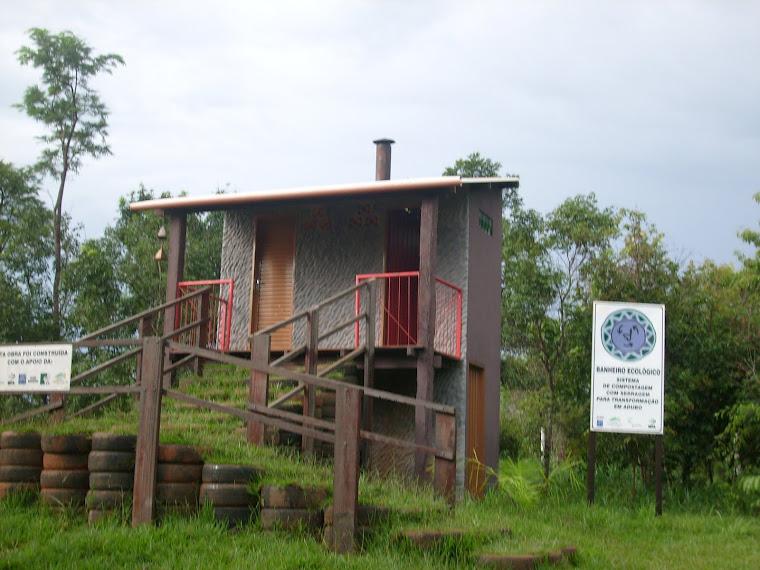 Banheiro ecológico construído na Prainha do Formoso-EMAS PARK