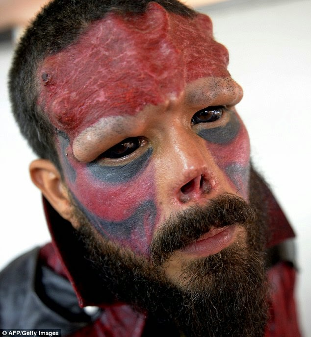 Venezuelan Man Had Have Surgery on His Face to Make Himself Look Red Skull