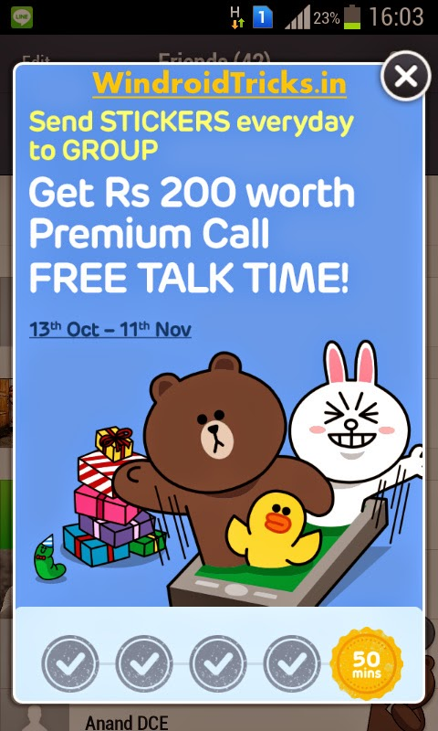 Line Free Diwali Offer