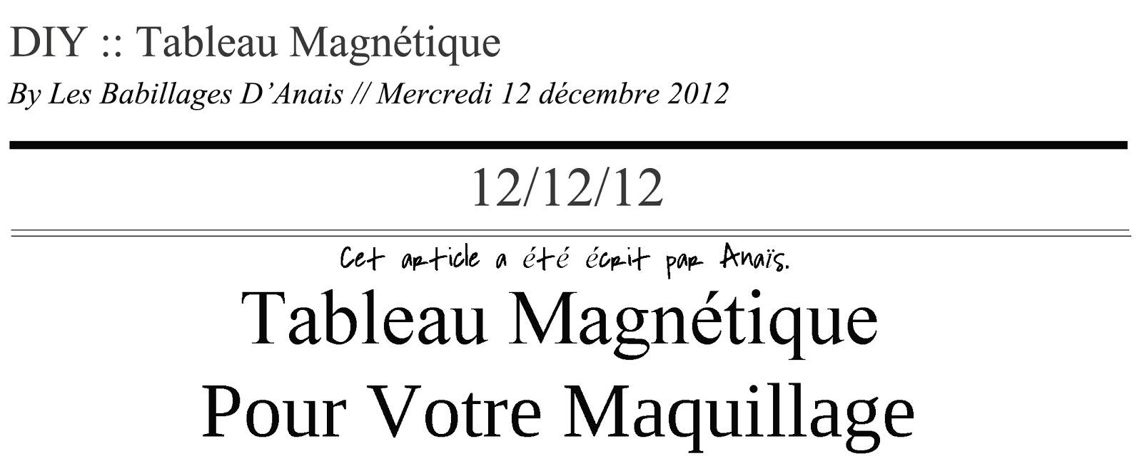Les babillages d 39 ana s - Aimant tableau magnetique ...