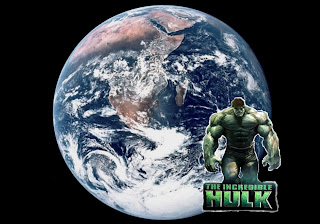 Hulk Posters Wallpapers The Incredible Hulk The Movie in Earth Seen From Space background