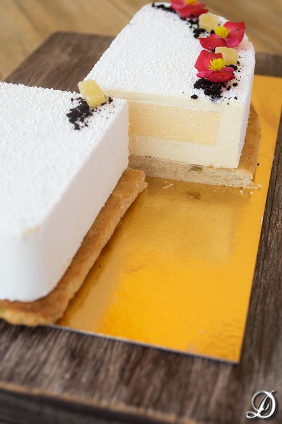 Tarta de Piña, Coco y Chocolate blanco