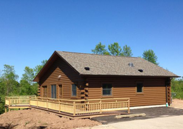 Accessible cabin available at Wisconsin's Harrington Beach State Park