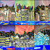 Mixed Media Cityscape Collages
