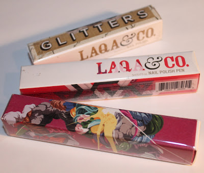 LAQA & Co. nail polish and polish pens