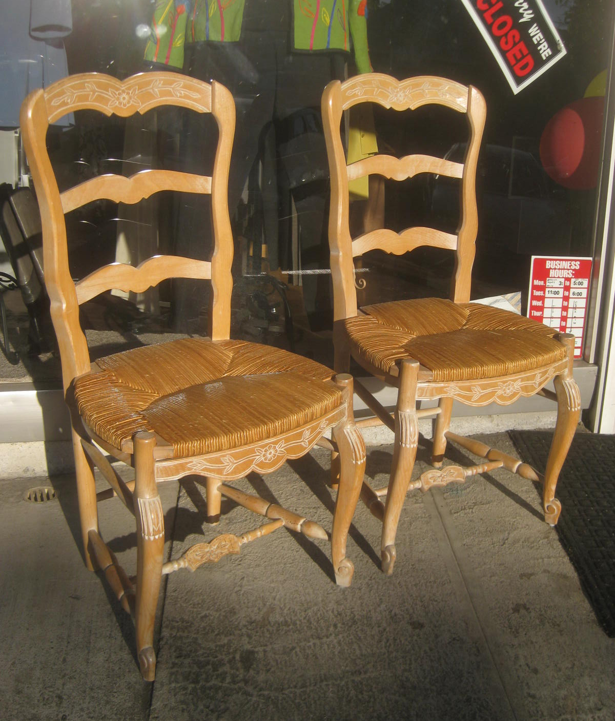 SOLD - White Washed Oak Chairs - $25 each : whitewashed chairs - Cheerinfomania.Com