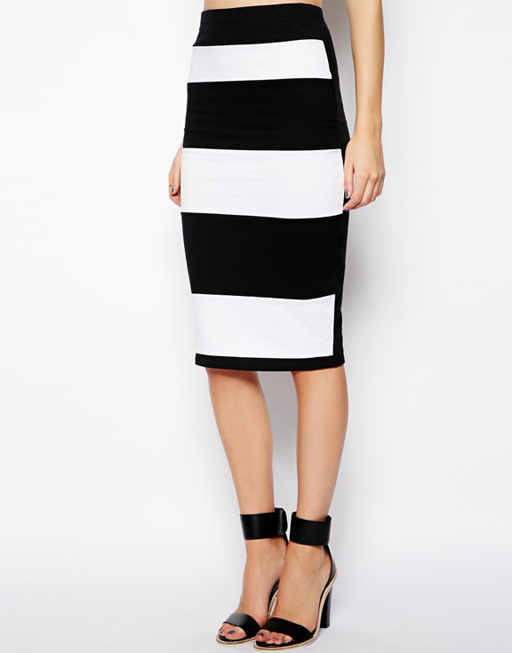 220 ber chic for cheap spied asos pencil skirt in stripe