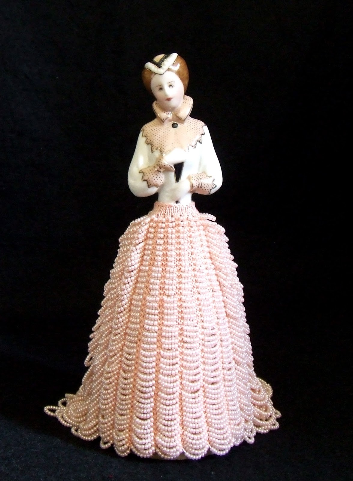 Beaded Knitting Patterns Half Dolls : Beading Belles: Half Doll Queen Ann