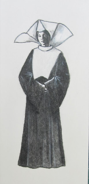 Young Nun drawing by F. Lennox Campello, c.2012