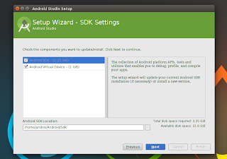 Android Studio Setup Wizard Ubuntu