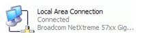 Status - status pada Local Area Connection