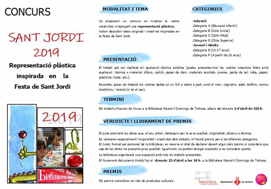Concurs Manualitats Sant Jordi 2019