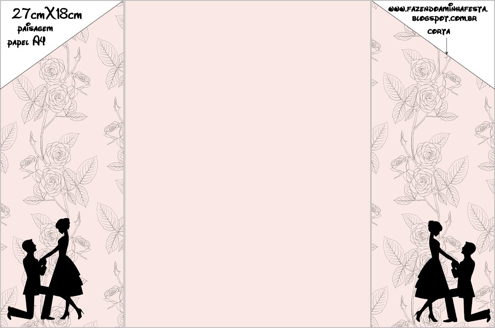 Favoritos Convites de Noivado com Envelope Prontos para Imprimir! | Fazendo  TU56