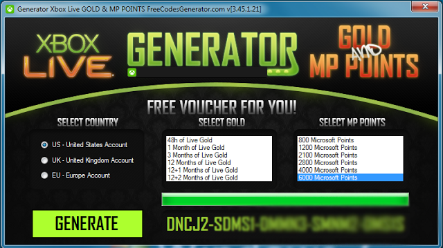 free xbox live generator download