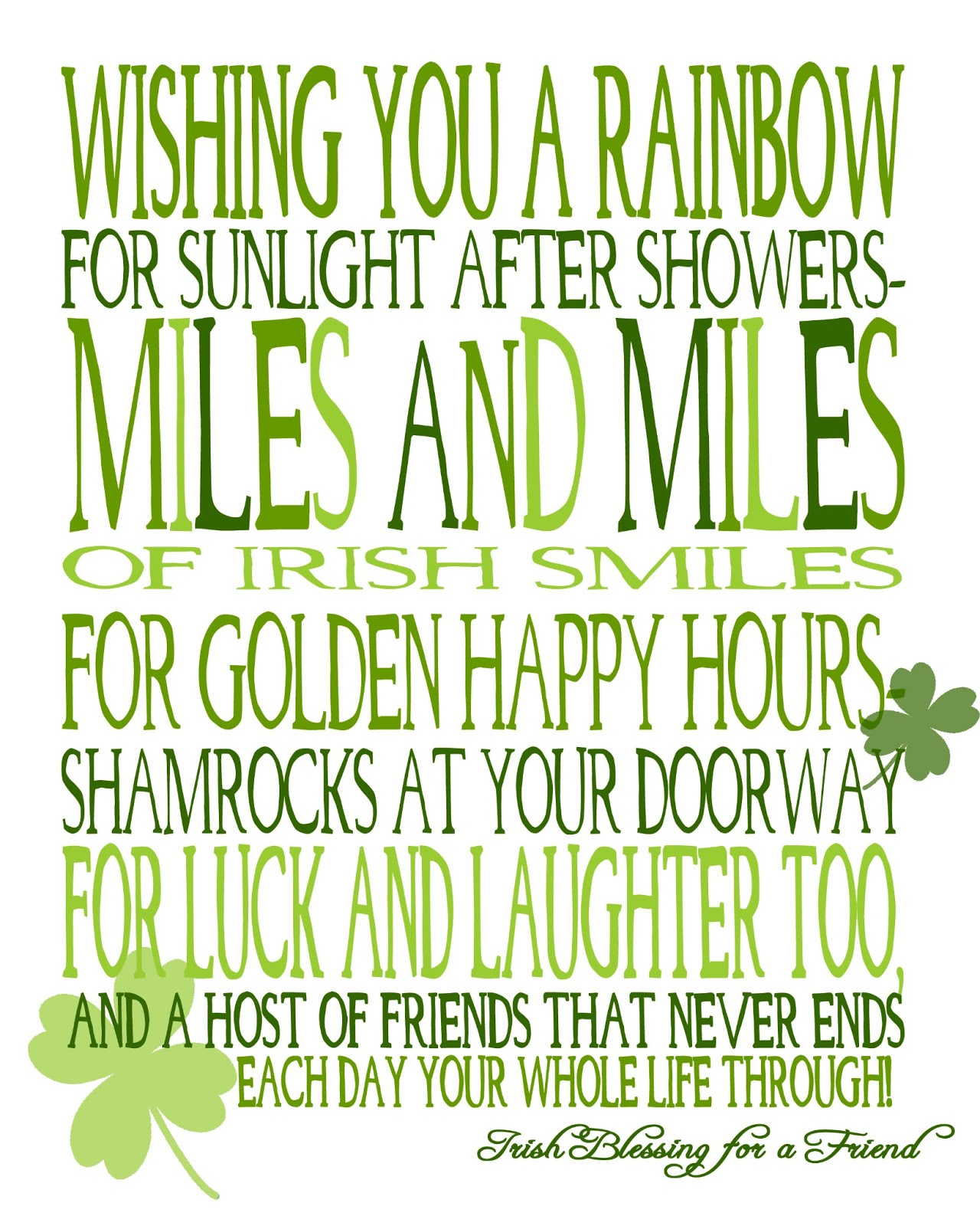 Image result for wishing you a dayful of shamrocks images