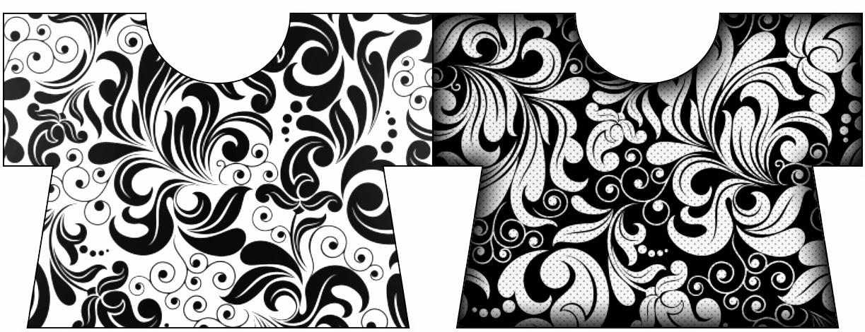Tarjeta con forma de camisa.