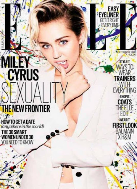 Actress, Singer @ Miley Cyrus - Elle magazine UK, October 2015