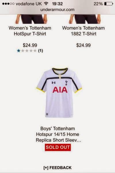 2014/15 Tottenham Shirt