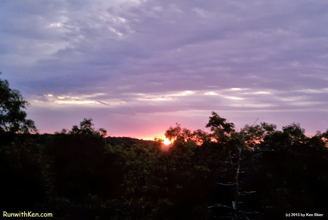Sunrise at the Top of the World in Lexington, MA (September 5, 2013)