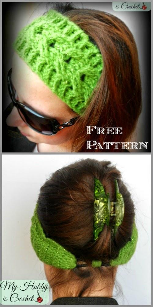 Free Crochet Cable Stitch Headband Pattern : My Hobby Is Crochet: Crochet Cable Headband Easy fit ...