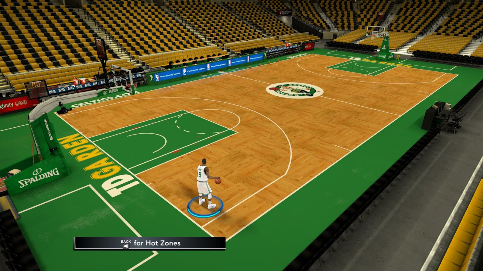 Boston celtics td garden hd court patches for nba 2k12