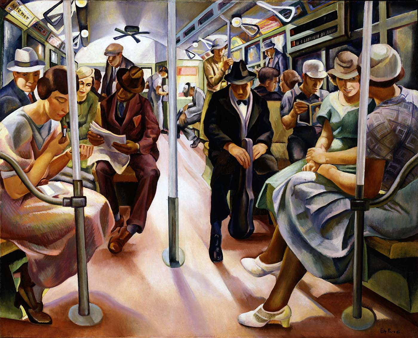 """Legacy Of Wpa >> New Deal of the Day: New Deal Art: """"Subway"""""""