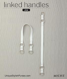White Linked Fashion Handles
