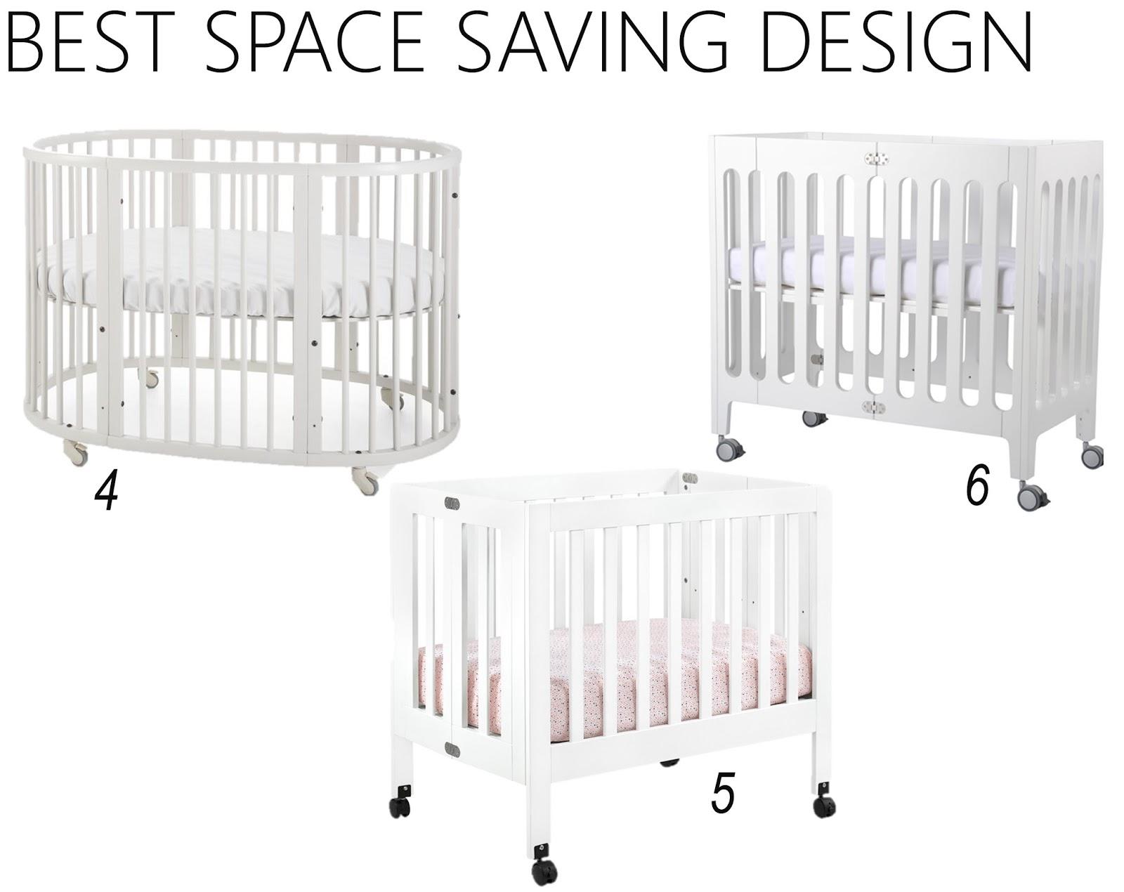iron  twine white baby cribs - space saving cribs