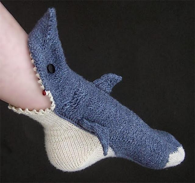 Носки-акула