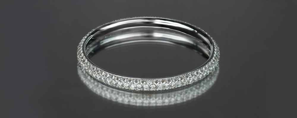 alb bangles nicole eternity bangle row rose two diamond