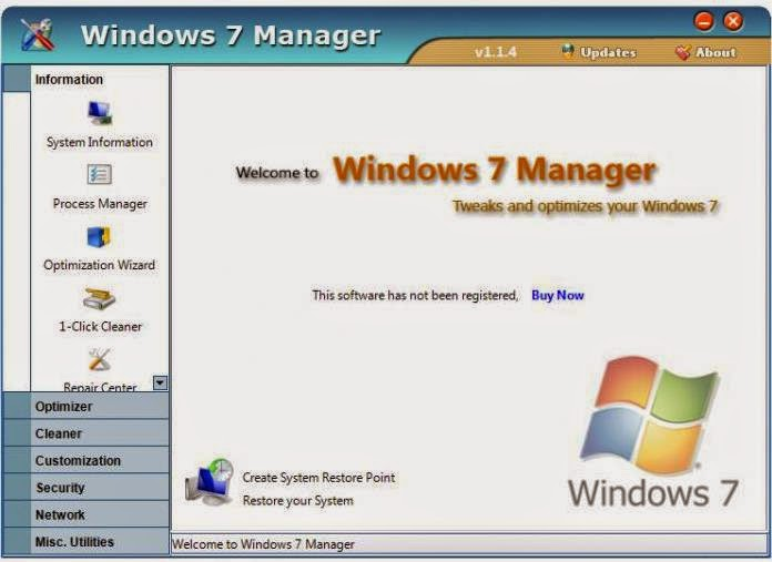 Downlaod Yamicsoft Windows 7 Manager 5.0