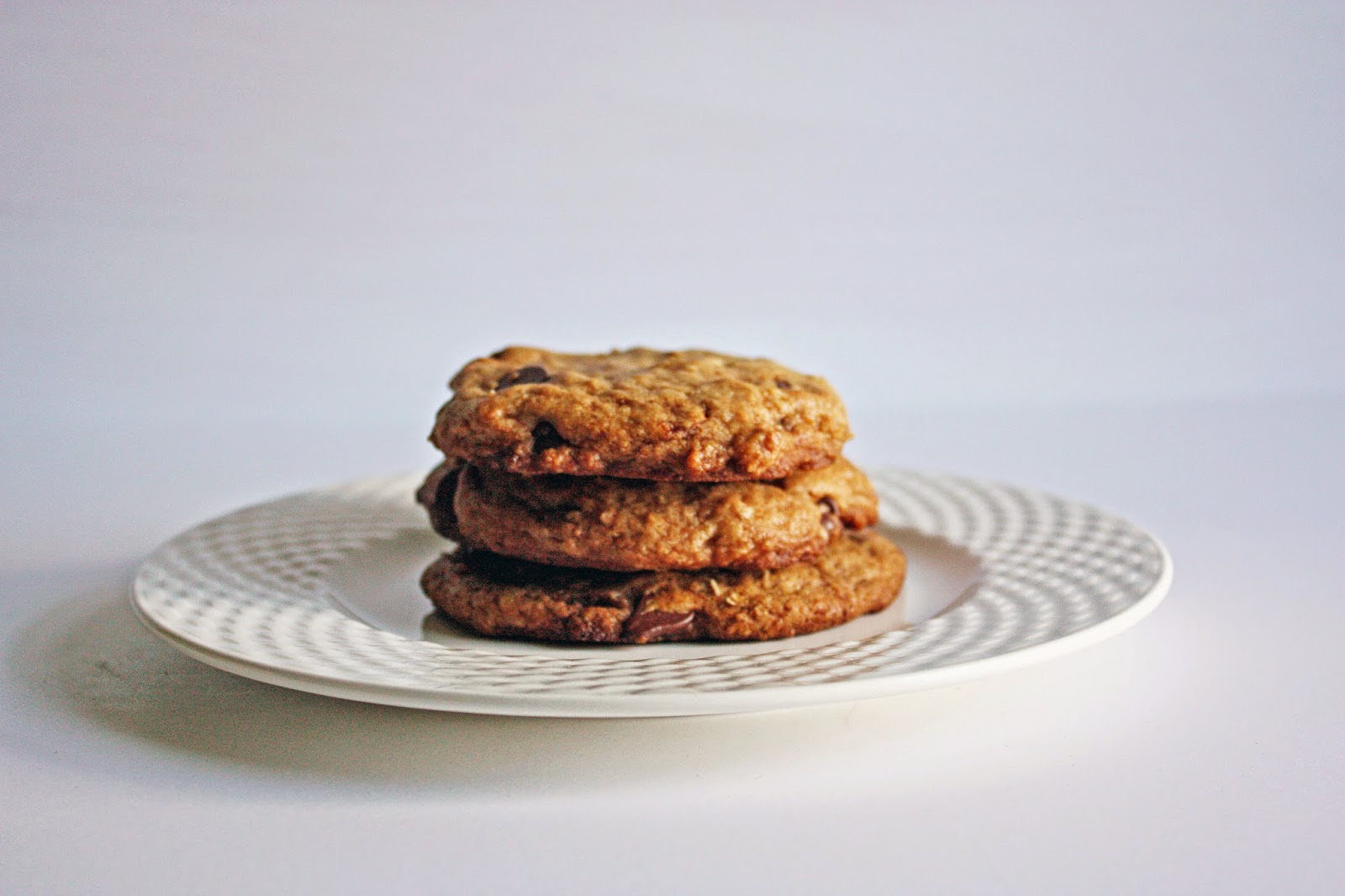 wicked easy vegan chocolate chip cookies just sitting there peacefully like they don't give a fuck