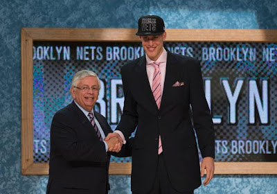 Mason Plumlee at the 2013 NBA Draft