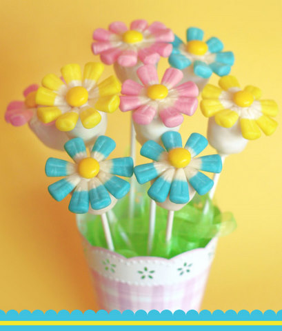 cake pops how to. Spring Flower Cake Pops~