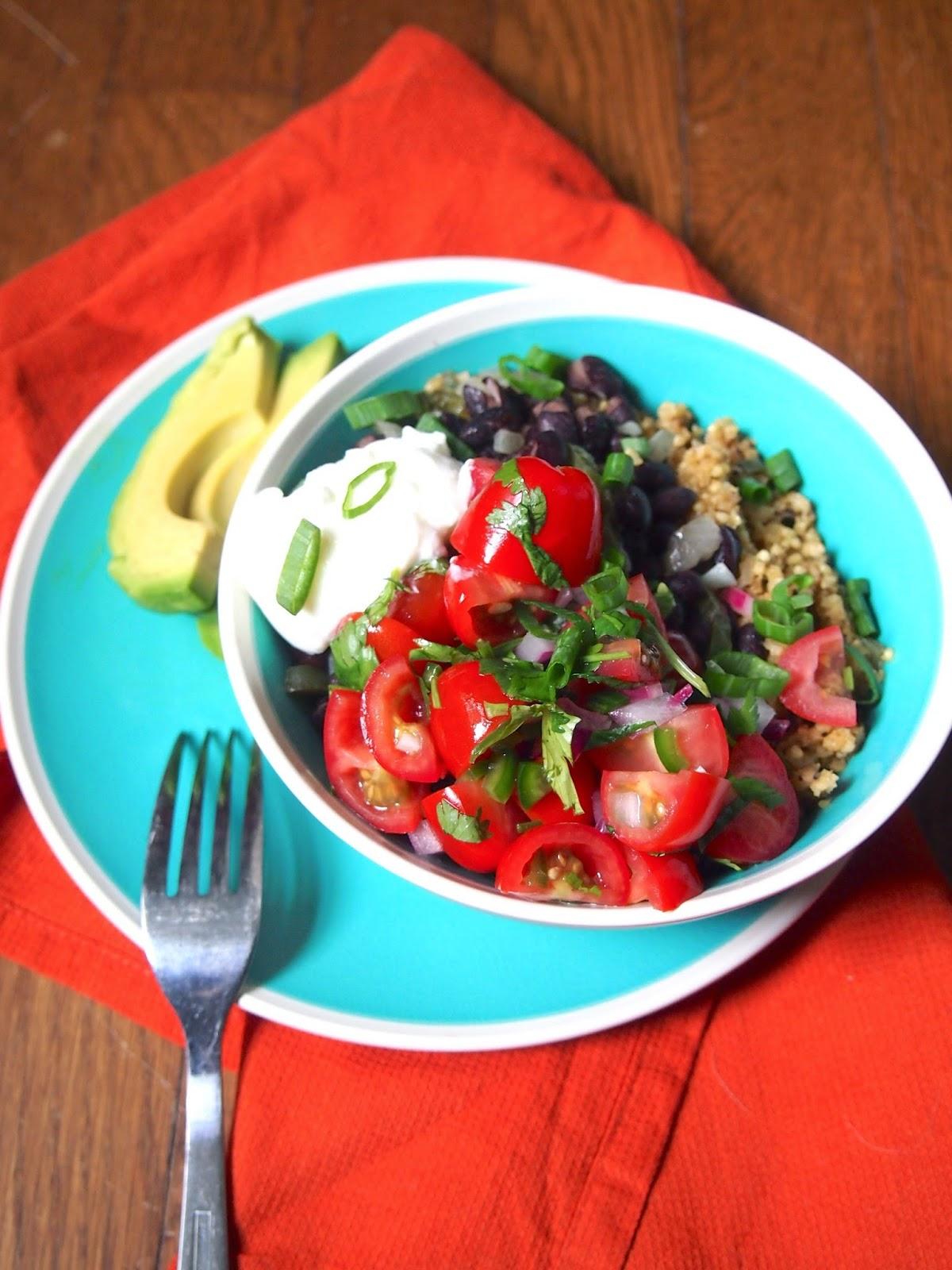 Build a Mexican grain bowl