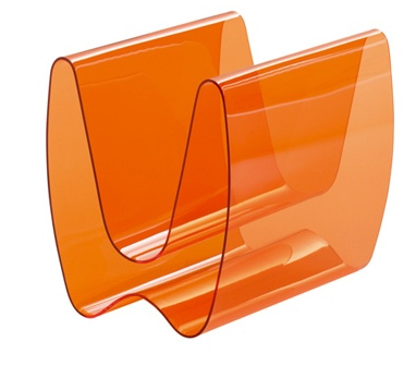 orange magazine rack