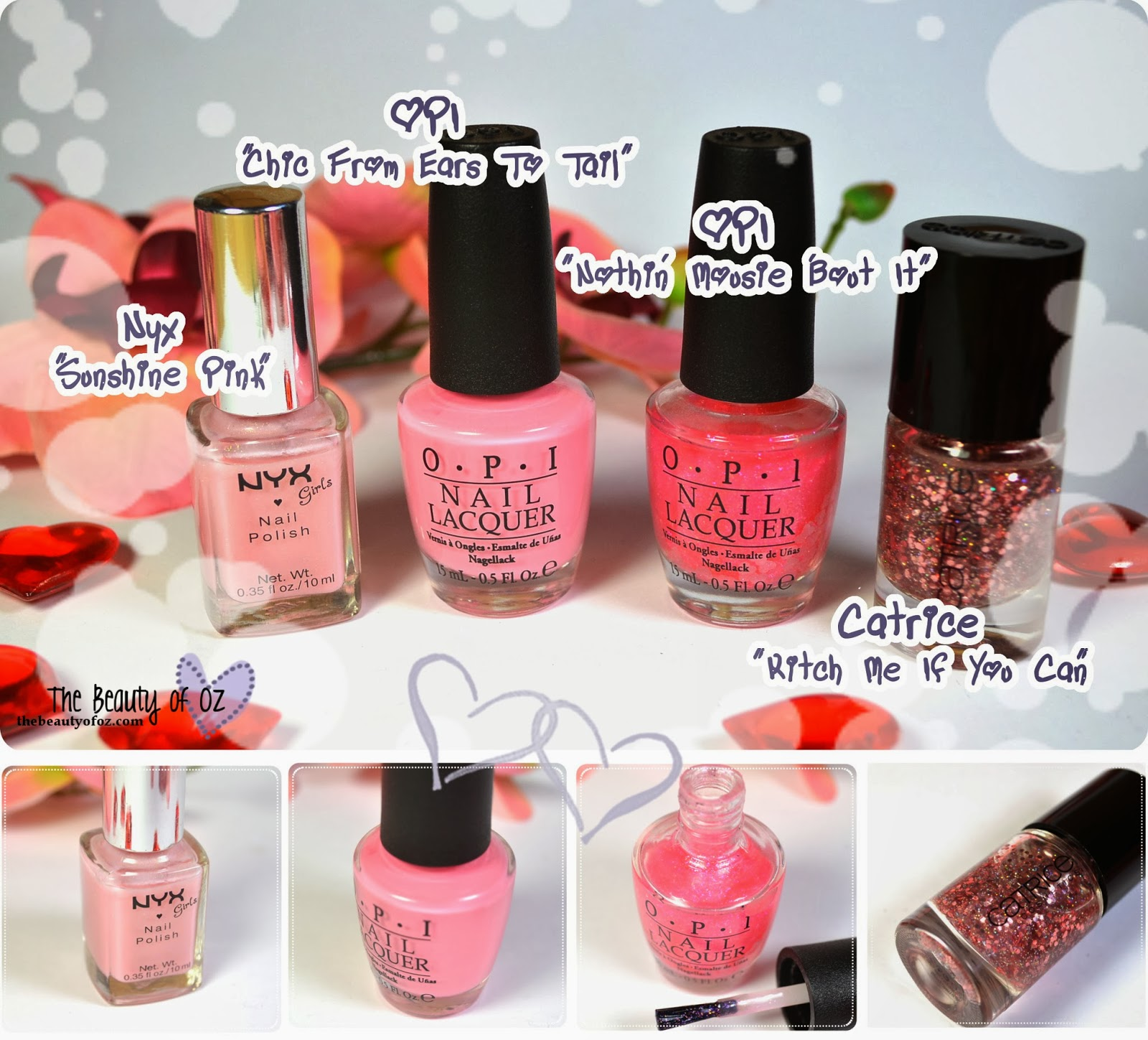 My Favorites For Valentine's Day - Nail Polishes
