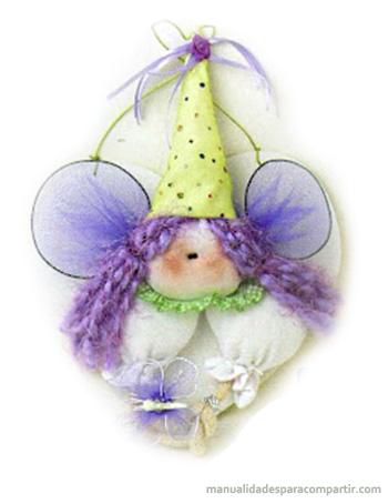 Como hacer haditas de tela souvenirs infantiles paso a paso.