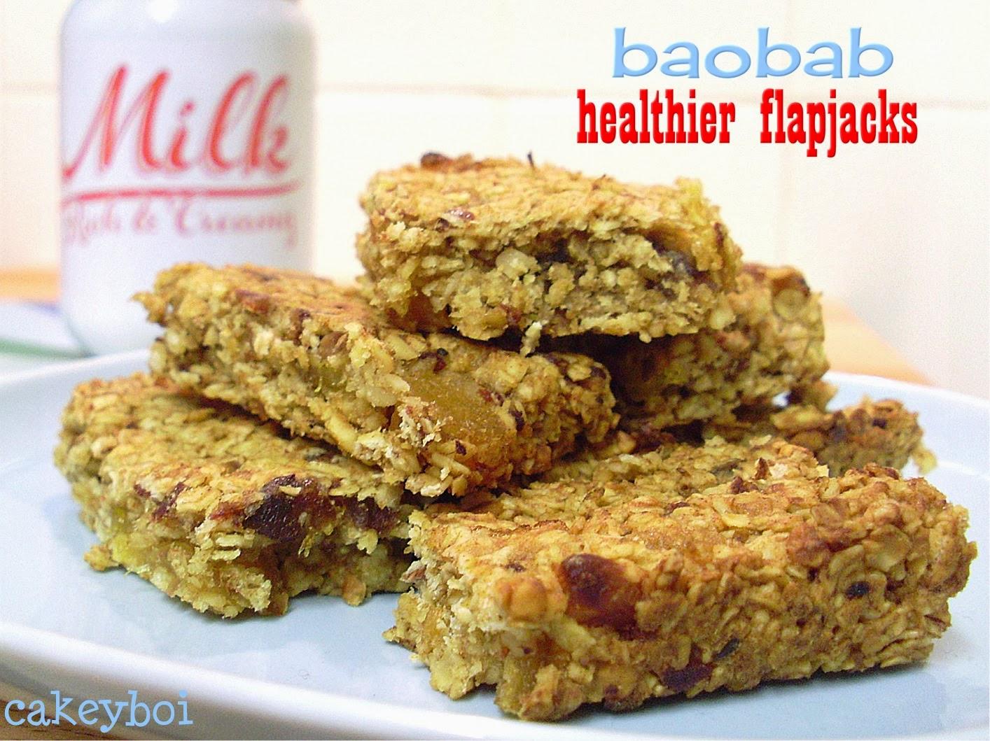 Cakeyboi baobab healthier flapjacks