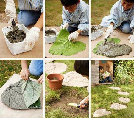 Pasos de cemento para jard n paso a paso for O jardin des beautes